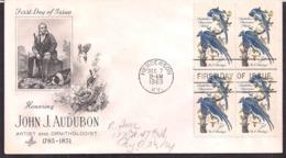 USA - 1963 - FDC - John J. Audubon (1785/1851) - Artiste Et Ornithologue - Oiseaux - Altri