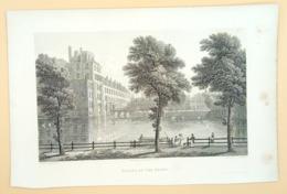 Staalgravure 'Paleis Den Haag/ Steel Engraving 'Palace At The Hague', 1825, Batty, Varrall - Prenten & Gravure