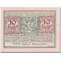 Billet, Autriche, Waldzell, 10 Heller, Paysage, 1920, SPL, Mehl:1135 - Autriche