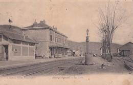 BOURG ARGENTAL           LA GARE   + CACHET AMBULANT   FIRMINY A ST JUST AU DOS - Bourg Argental