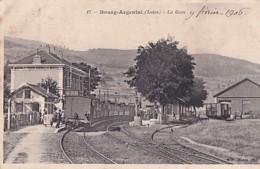 BOURG ARGENTAL           LA GARE   . TRAIN - Bourg Argental