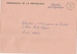 OBLIT. PRÉSIDENCE De La RÉPUBLIQUE 1.2.78 - Pli Sur Longueur - Marcophilie (Lettres)