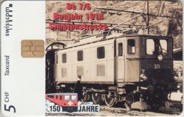 SUISSE - PHONE CARD - TAXCARD-PRIVÉE * CHIP *** TRAIN - ZUG - 150 ANS / 1B *** - Schweiz