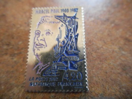 A040 -- Pin's Poste Timbre 1992 4.20F Marcel Paul 1900-1982 - Postes