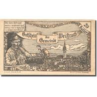 Billet, Autriche, Weistrach, 20 Heller, Paysage 1, 1920 SPL Mehl:FS 1161c - Autriche