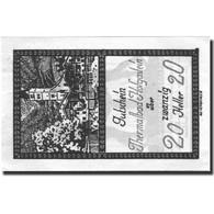 Billet, Autriche, Bad Hofgastein, 20 Heller, Eglise, 1920, SUP+ Mehl:FS 384Ia - Autriche