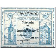 Billet, Autriche, Vorchdorf, 20 Heller, Paysage, 1920, SPL, Mehl:FS 1119a - Autriche