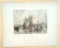 Staalgravure 'Rivier Dorte'/ Steel Engraving 'River Dorte (NL)', 1836, Austin, Bentley - Prenten & Gravure