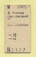 BRD - Pappfahrkarte -  (DR) --> Königstein - Bad Schandau Von 1973 - Bahn
