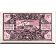Billet, Autriche, Utzenaich, 20 Heller, Paysage, 1920, SPL, Mehl:1107 - Autriche
