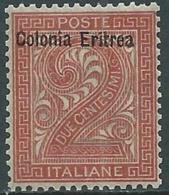 1893 ERITREA CIFRA 2 CENT MNH ** - RB2-9 - Eritrea