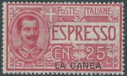 1906 LEVANTE LA CANEA ESPRESSO 25 CENT MNH ** - RB3-3 - 11. Oficina De Extranjeros
