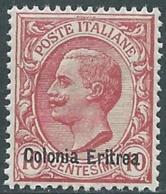 1908-09 ERITREA EFFIGIE 10 CENT MNH ** - RB2-5 - Eritrea