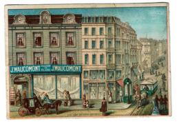 Chromo Grands Magasins De Blanc - J. Waucomont & Cie- Rue Marché Aux Poulets 35, Bruxelles - 2 Scans - Autres
