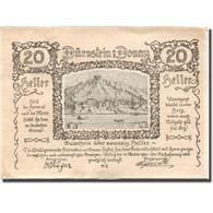 Billet, Autriche, Dürnstein, 20 Heller, Montagne 1920-10-31, SUP Mehl:FS 138 - Autriche