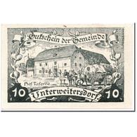 Billet, Autriche, Unterweitersdorf, 10 Heller, Paysage, 1920, 1920-05-15, SPL - Autriche