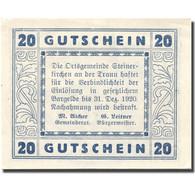 Billet, Autriche, Steinerkirchen 20 Heller, Chateau 1, 1920 SPL Mehl:FS 1029I - Autriche
