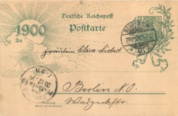ENTIER POSTAL  ENVOYE LE 28/12/1899  POSTKARTE - Deutschland