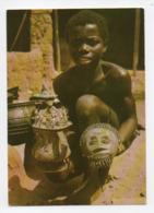 Ghana: Brass Castings Of The Ashanti, Moulages à Cire Perdue Des Ashantis, Jeune Garçon, Masque (19-1709) - Ghana - Gold Coast