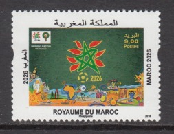 2018 Morocco Maroc 2026 National Plan   Complete Set Of 1 MNH - Morocco (1956-...)