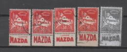 Algérie N°79A Avec Marge Publicitaire. Bande De Carnet Reconstituée: MAZDA (4 Timbres) - Algerien (1924-1962)