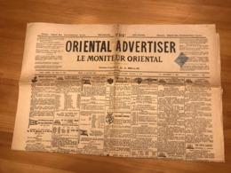 Oriental  Advertiser - Moniteur Oriental - 1899 - 1900 Perchembé-Bazar Galata Turquie - Journaux - Quotidiens