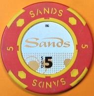 SGD$5 Casino Chip. Marina Bay Sands, Singapore. Q06. - Casino