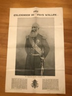 1907 - Calendrier Du Pays Wallon  (Léopold II) - Groot Formaat: 1901-20