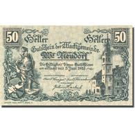 Billet, Autriche, Neudorf, 50 Heller, Chevalier 2, 1920 SPL Mehl:FS 1229Ia - Autriche