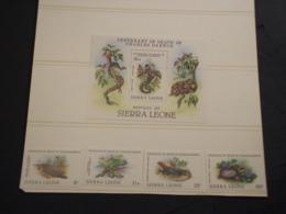 SIERRA LEONE - 1982 DARWIN/RETTILI 4  VALORI + BF - NUOVI(++) - Sierra Leone (1961-...)