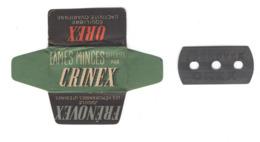 Lame De Rasoir Française CRINEX - French Safety Razor Blade Wrapper - Razor Blades