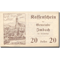 Billet, Autriche, Imbach, 20 Heller, Eglise 1920-12-31, SPL, Mehl:FS 404Ib - Autriche