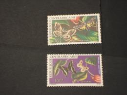 CENTRAFRICAINE - P.A. 1976 FARFALLE 2 VALORI - NUOVI(++) - Repubblica Centroafricana
