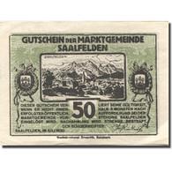 Billet, Autriche, Saalfelden, 50 Heller, Montagne, SPL, Mehl:FS 859b - Autriche