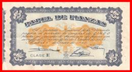 ESPAÑA PAPEL DE FIANZAS CLASE E 5 PESETAS 1940 - Documentos Históricos
