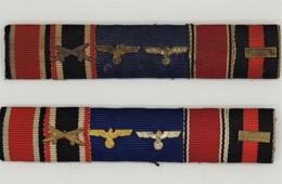 2 Originale 5er Feldspangen Mit Auflagen.. - 1939-45