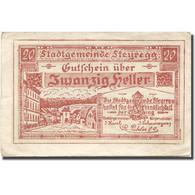 Billet, Autriche, Steyregg, 20 Heller, Village, 1920 TTB, Mehl:FS 1036Ia - Autriche