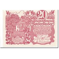 Billet, Autriche, Vorderstoder, 20 Heller, Graphique, 1920, 1920-05-30, SPL - Autriche