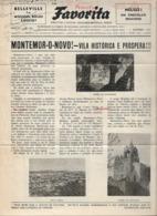 Montemor-o-Novo - Jornal Da Favorita De 1 De Janeiro De 1955 - Chocolate E Biscoitos - Imprensa - Publicidade. Évora. - Koken & Wijn