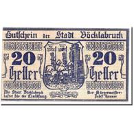 Billet, Autriche, Vocklabruck, 20 Heller, Cavalier, 1919, 1919-11-29, SPL - Autriche