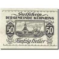 Billet, Autriche, Kuhnring, 50 Heller, Cimetière 1920-12-31, SPL Mehl:FS 489f - Autriche