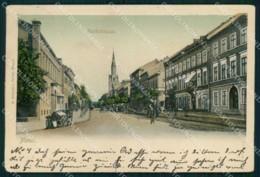 Lituania Memel Marktstrasse CREASED Cartolina KB6060 - Litauen