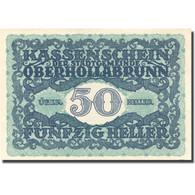 Billet, Autriche, Oberhollabrunn, 50 Heller, Château, 1920 SPL Mehl:FS 683a - Autriche