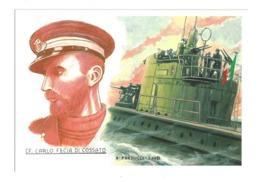 CAPITANO CARLO FECIA DI COSSATO - SOMMERGIBILE TAZZOLI - War 1939-45