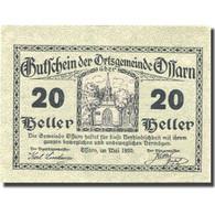 Billet, Autriche, Ossarn, 20 Heller, Eglise 1920-12-31, SPL, Mehl:FS 712a2.1 - Autriche
