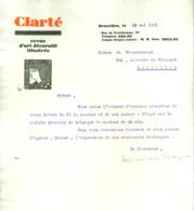 6 Documents Commerciaux (lettre, Factures, Reçus Acquittés Et Timbrés) Pour Revues (L'éventail; Clarté; Indicateur.)1931 - Imprenta & Papelería