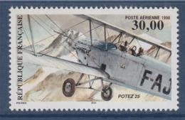 = Poste Aérienne Biplan Potez 25, 30.00F N°PA62 - Poste Aérienne
