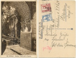 AK Sevilla Alcazar 1941, Patio De La Yeseria, Nach Hildesheim An Die Kreisleitung Der XXXXX - Sevilla