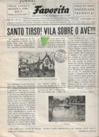 Santo Tirso - Jornal Da Favorita De 1 De Novembro De 1955 - Chocolate E Biscoitos - Imprensa - Publicidade (danificado) - Koken & Wijn