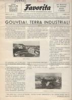 Gouveia - Jornal Da Favorita De 1 De Abril De 1955 - Chocolate E Biscoitos - Imprensa - Publicidade. Guarda. - Koken & Wijn